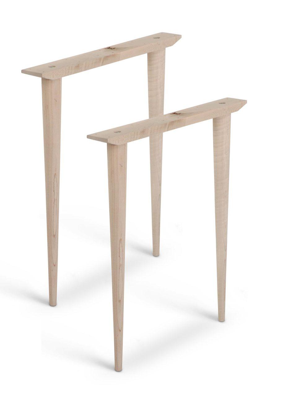 Image of: Mccobb Mid Century Modern Table Base Set 4 Legs 2 Straight Cleats