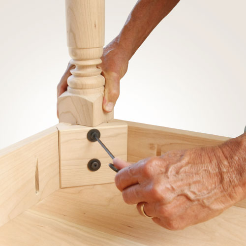 Woodworking How To Attach Table Legs
