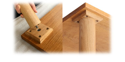round wooden table legs