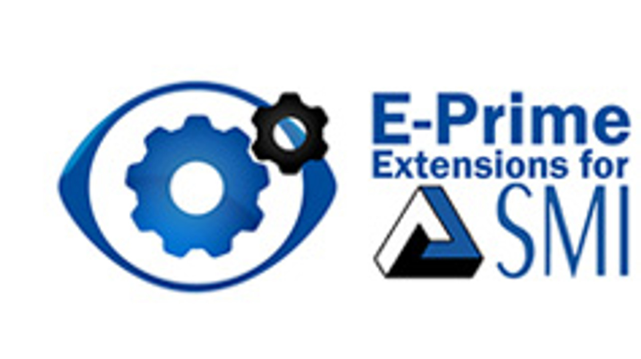 E-Prime® Extensions for SMI adds eye gaze and eye movement capabilities to existing and novel E-Prime experiments. Create new paradigms with E-Studio's graphical design interface and connect with flexible Remote Eye Tracking technologies by SensoMotoric Instruments.