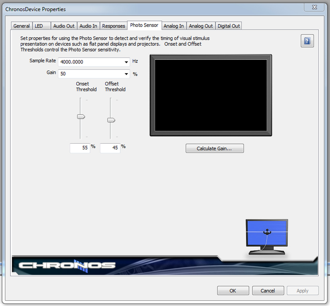 Chronos Device Properties in E-Prime