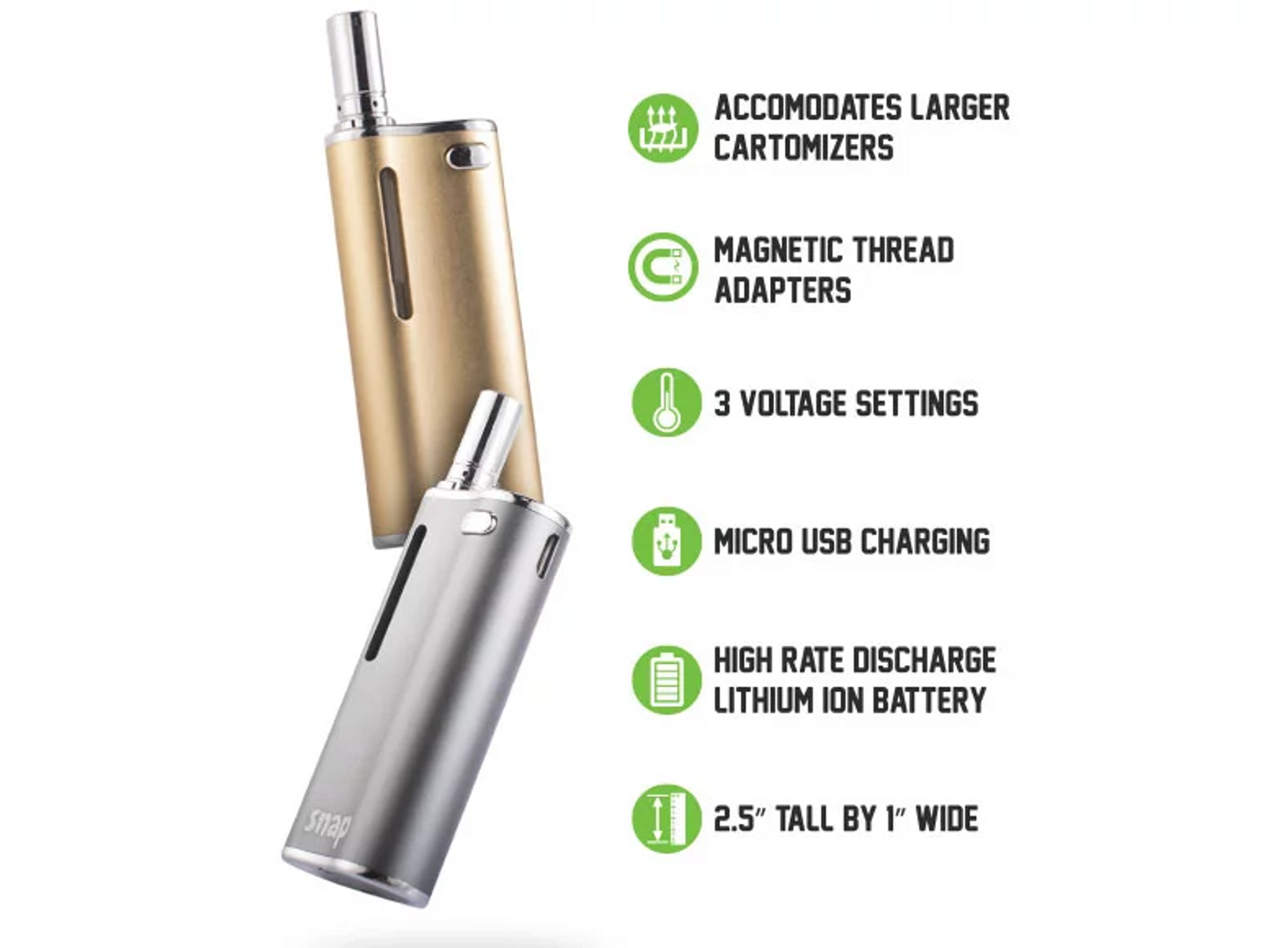 EXXUS - Snap Vaporizer for Pre-Filled Cartridges