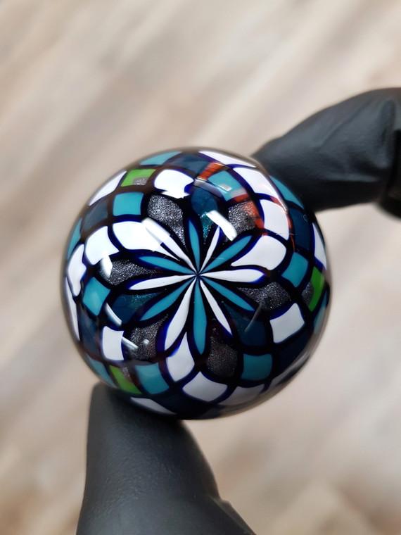 CHRIS VARGAS - Dichro Spiral Vortex Marble w/ Filla Backing