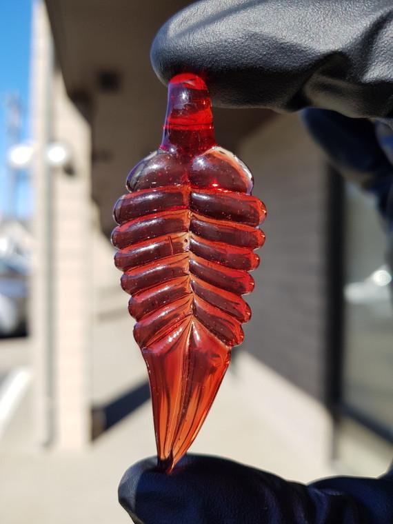 UPGRADE - Glass Leaf Pendant - Red