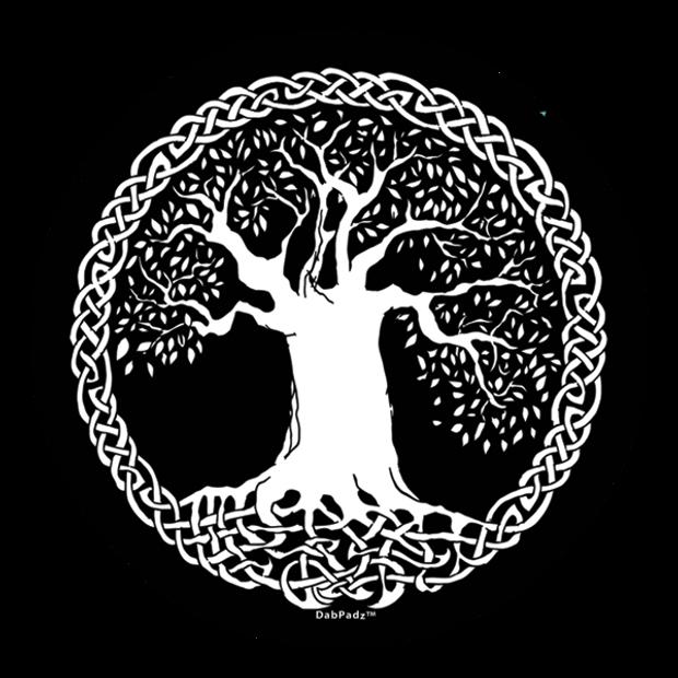 """DABPADZ - 5"""" Bong Pad & Dab Rig Pad - Tree Life"""