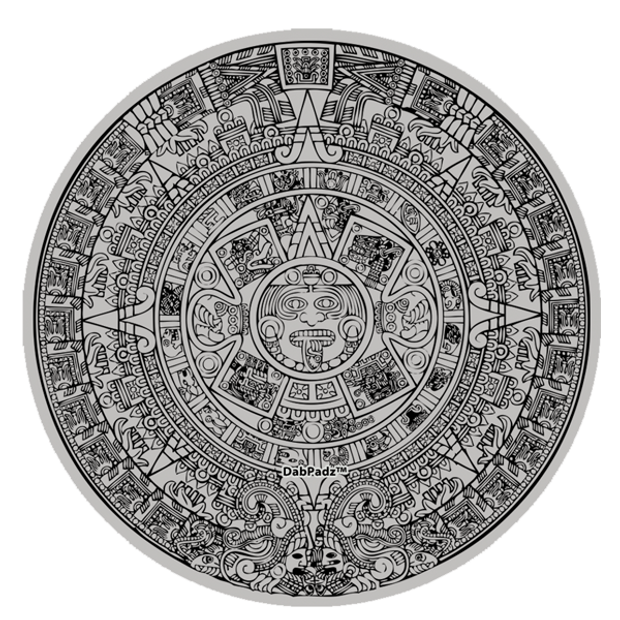 "DABPADZ - 5"" Bong Pad & Dab Rig Pad - Mayan Calendar"