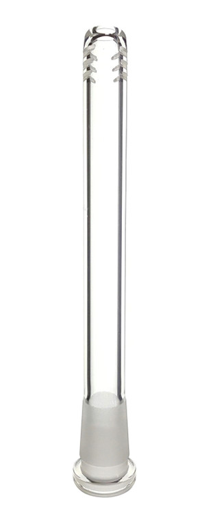 BARE - Glass on Glass Downstem w/ 6-Slit Diffusion - 18mm to 14mm (Pick Your Length)