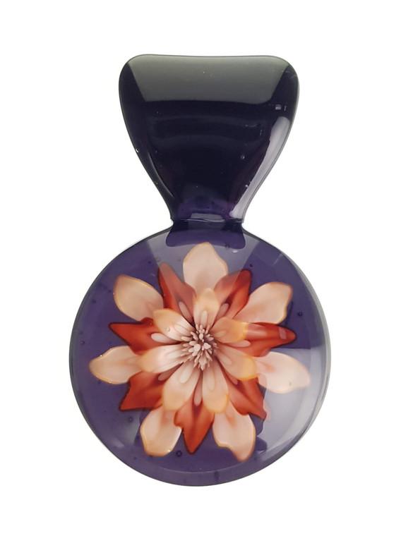 KIMMO - Glass Flower Pendant - #1