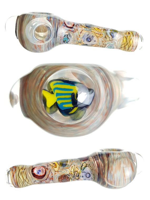 JERRY KELLY - Heady Millie Spoon Pipe w/ Single-Hole Bowl - #3