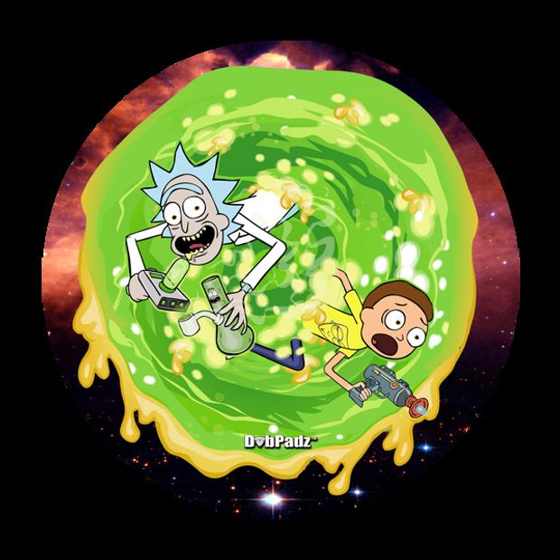 """DABPADZ - 8"""" Bong Pad & Dab Rig Pad - Rick & Morty Dab Portal"""
