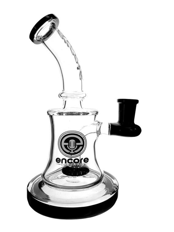 ENCORE - Showercap Dab Rig w/ 14mm Female Joint & Quartz Nail (Pick a Color)