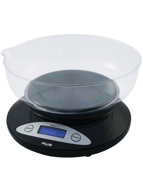 AWS - Digital Counter Scale w/ Removable Bowl (2000g x 0.1g)