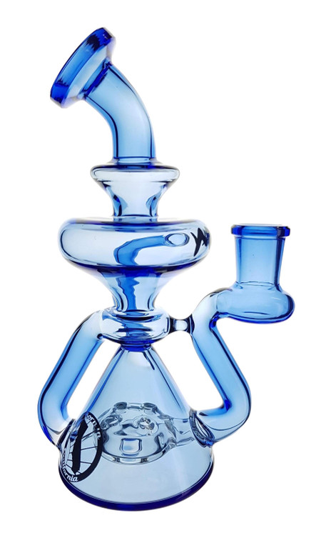 MAV - Waffle Recycler Rig w/ 14mm Female Joint - Light Cobalt