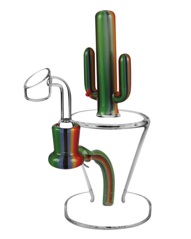 PULSAR - Cactus Dab Rig w/ 14mm Female Joint & Quartz Nail