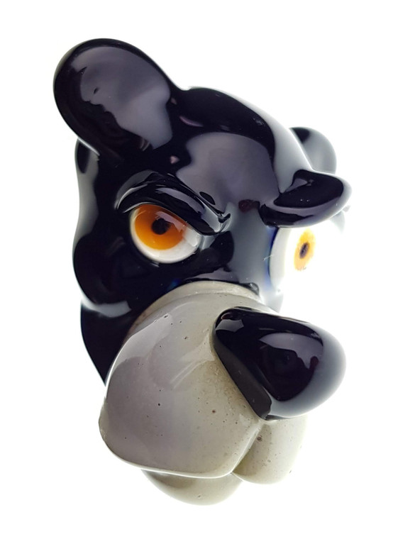 CAL SMITH - Animal Head Glass Pendant - Black Bear #1