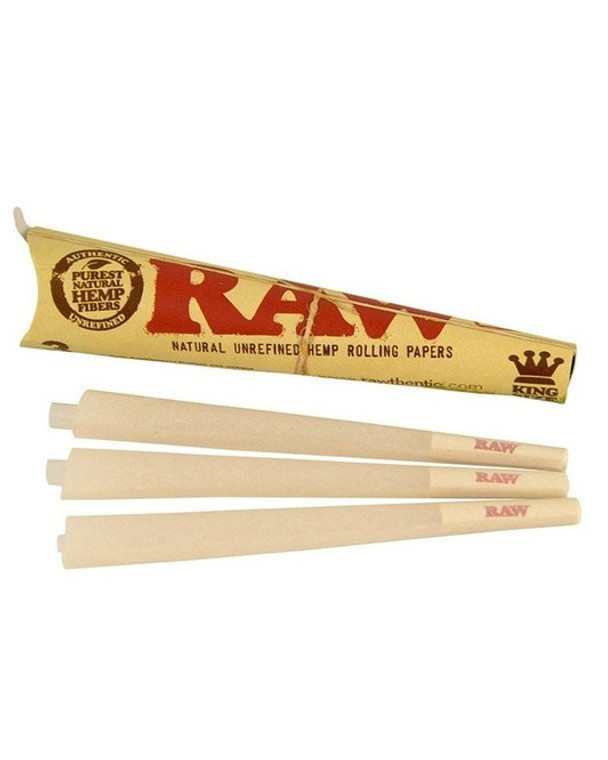 RAW - King Size Cone Papers (3 Pack)