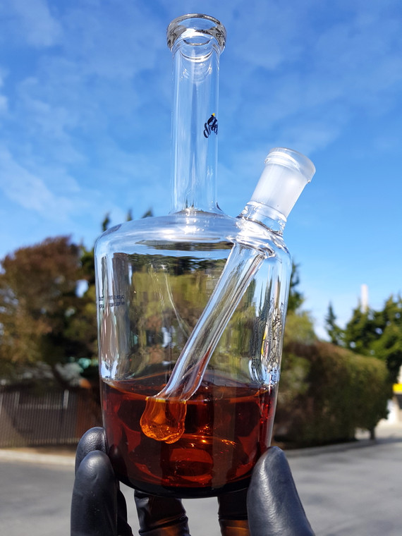 "IDAB - Medium ""Hennessy Bottle"" Dab Rig w/ 14mm Female Joint - Half Filled"