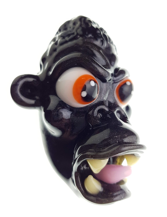 CAL SMITH - Animal Head Glass Pendant - Gorilla #1
