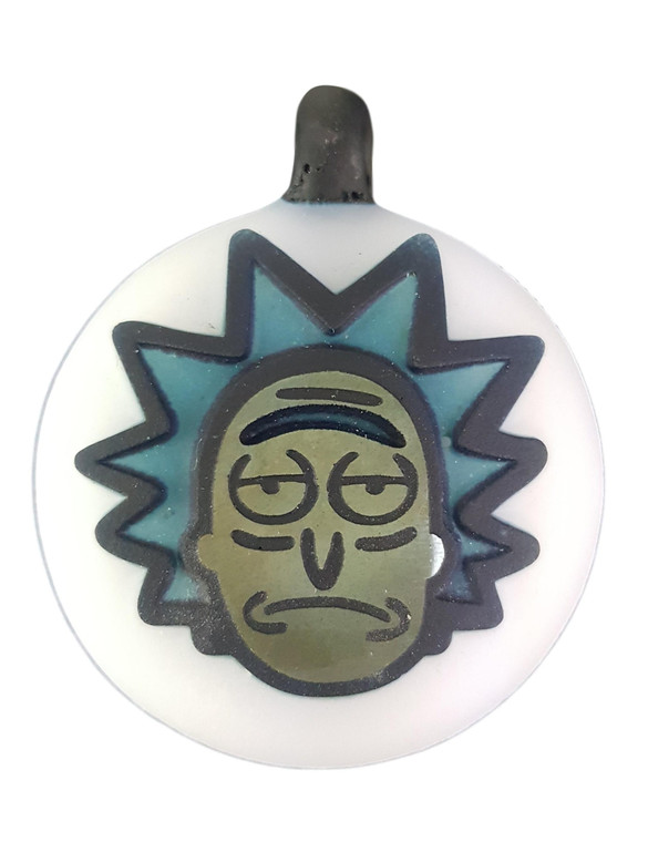 THINKBORO - Heady Glass Pendant w/ 3D Design - Rick & Morty
