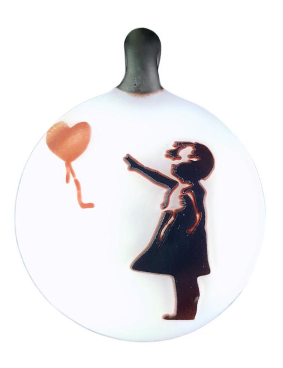 THINKBORO - Heady Glass Pendant w/ 3D Design - Banksy Balloon Girl