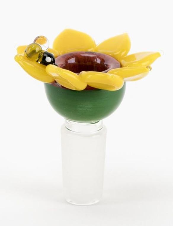EMPIRE GLASSWORKS - Sunflower Push Bowl Slide - 14mm
