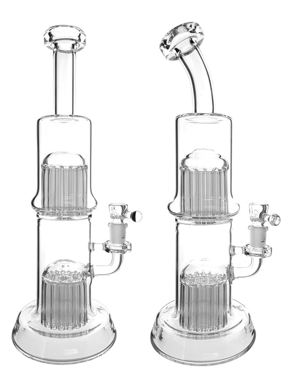 LEISURE - 26/29 Tree Perc Tube w/ 14mm Female Joint - Clear