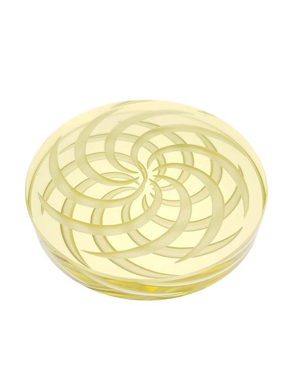 D-NAIL - Boro Channel Spinner Cap w/ Retticello Design - Yellow
