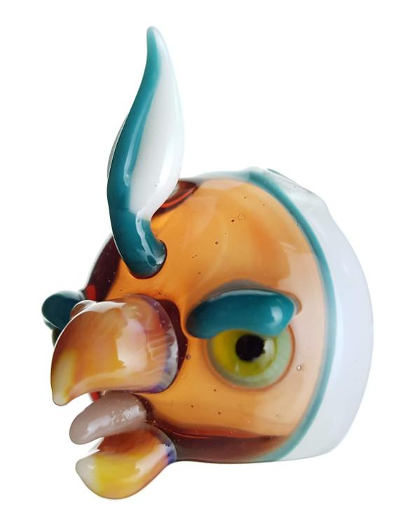 BURTONI - Glass Bird Head Pendant - #2