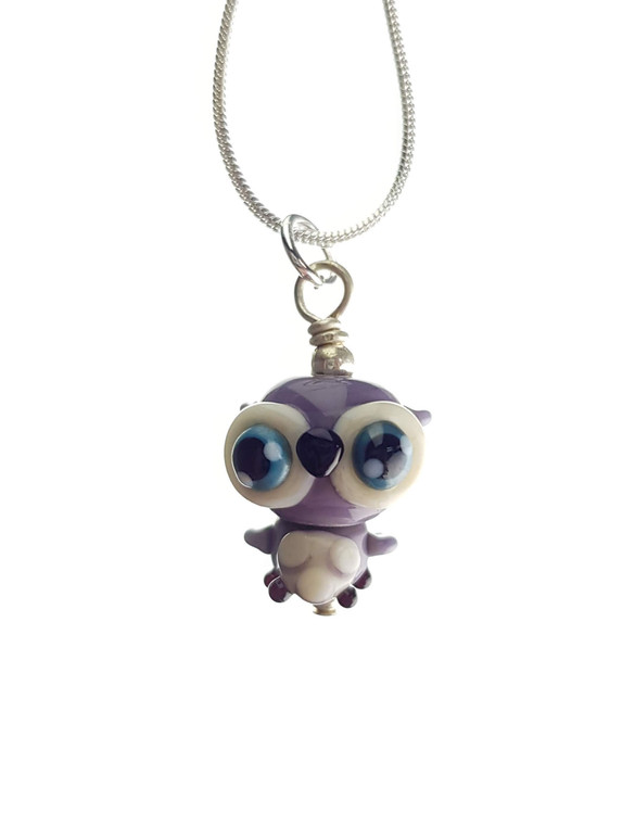 CUTE GLASS - Soren Owlet Pendant - Night Babies Collection