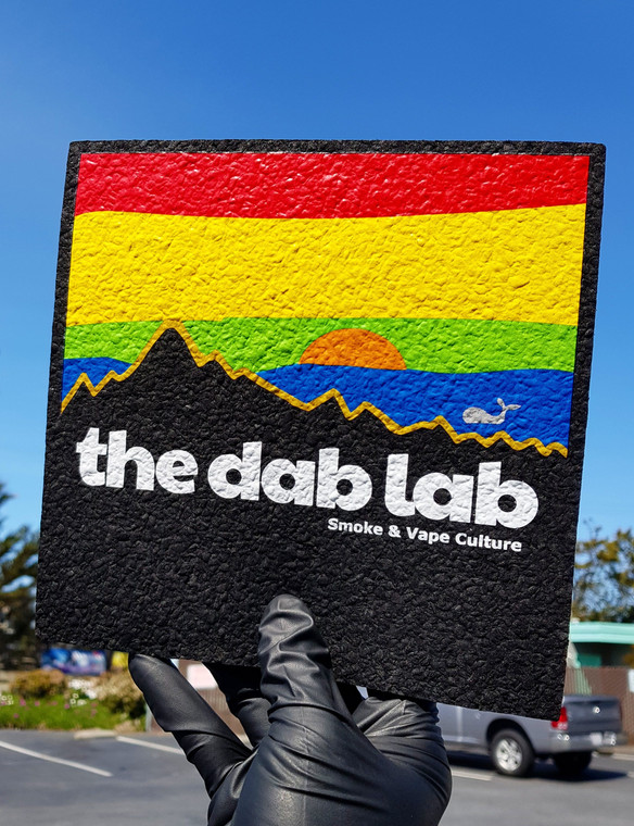 "MOODMATS - 8"" Square Bong Pad & Dab Rig Coaster - The Dab Lab (Pacifica)"