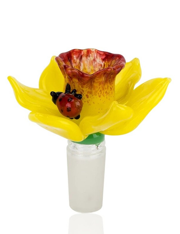 EMPIRE GLASSWORKS - Daffodil Flower Slide - 14mm