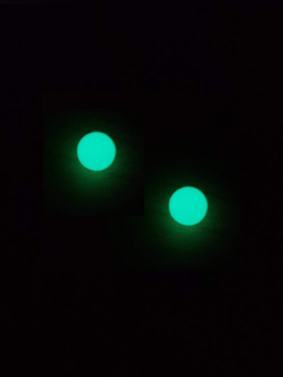 QUARTZ TECH - 6mm Glow in the Dark Boro Banger Beads / Dab Pearls (2 Pack)
