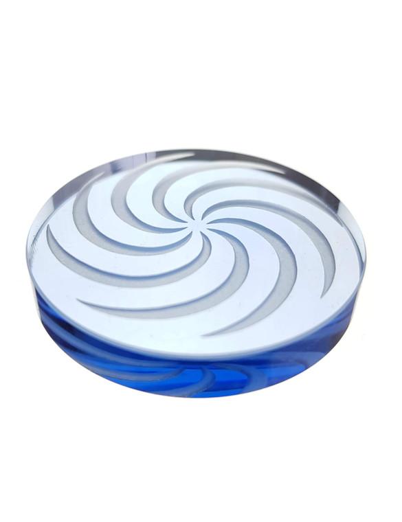 D-NAIL - Boro Channel Spinner Cap w/ Vortex Design - Blue