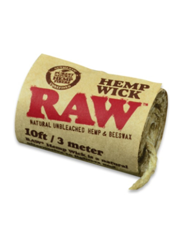 RAW - Natural Hemp Wick - 10ft. Roll