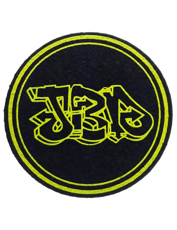 JEROME BAKER DESIGNS - Round Mood Mat Bong Pad Coaster - Yellow