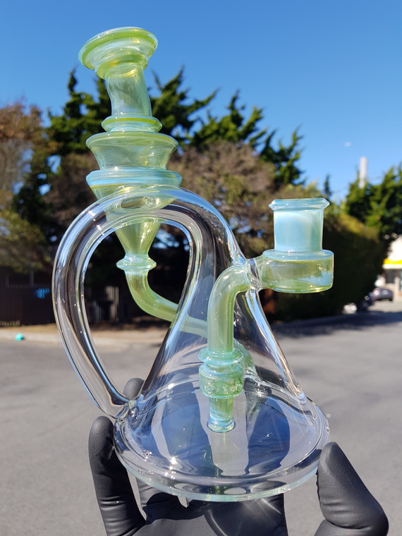 CERIO - Quick Draw Recycler Rig w/ 14mm Female Joint - Opal Light > Jungle Juice