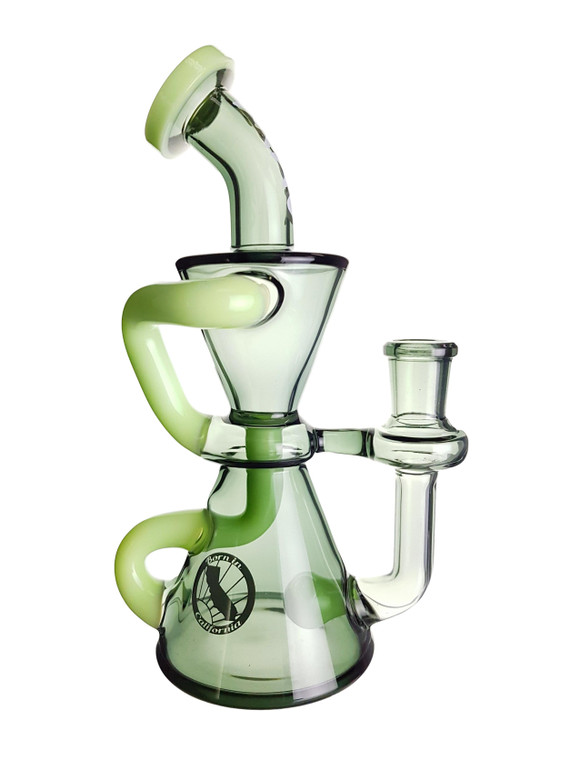 MAV - Hourglass Recycler Rig w/ 14mm Female Joint & Slide - Smoke/Kiwi