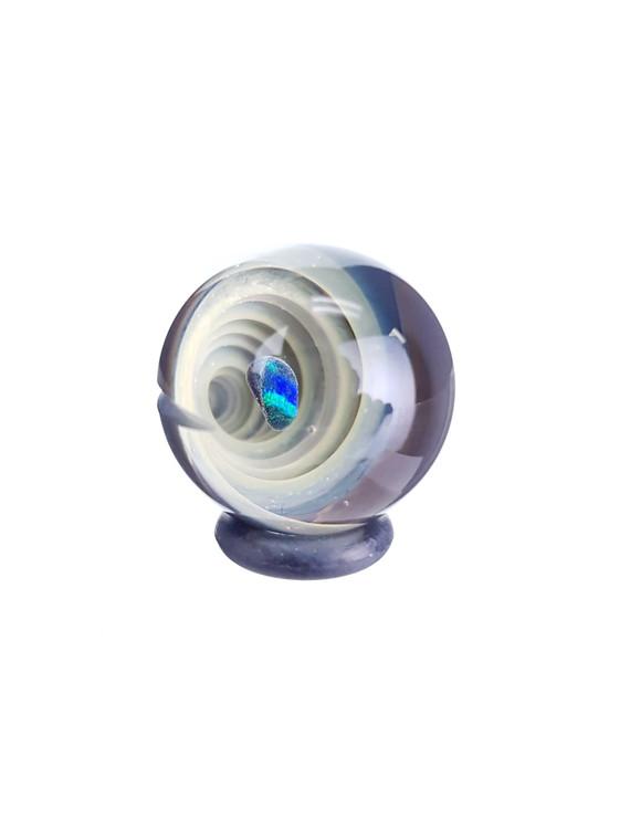 TERP SPHERE - Marble Spinner Carb Cap for Quartz Banger - Opal & Fume Vortex #1