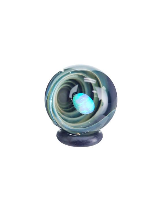TERP SPHERE - Marble Spinner Carb Cap for Quartz Banger - Opal & Fume Vortex #2