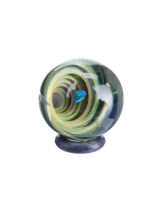 TERP SPHERE - Marble Spinner Carb Cap for Quartz Banger - Opal & Fume Vortex #3
