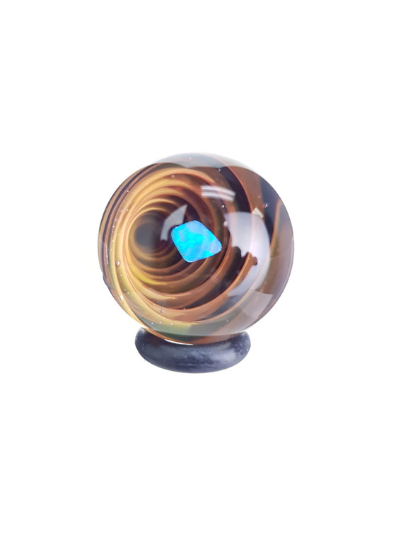 TERP SPHERE - Marble Spinner Carb Cap for Quartz Banger - Opal & Fume Vortex #5