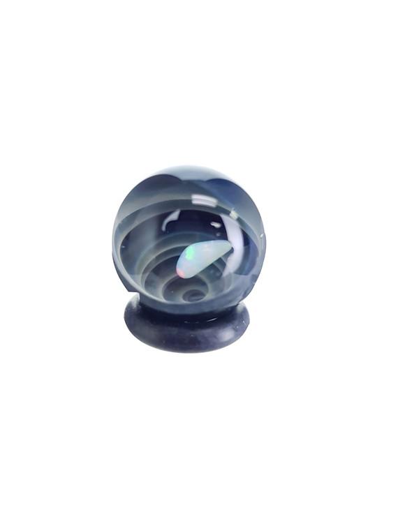 TERP SPHERE - Marble Spinner Carb Cap for Puffco Peak - Opal & Fume Vortex #1