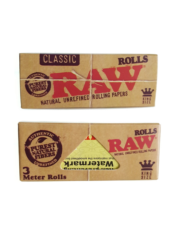 RAW - Classic Natural Rolling Paper Roll (3 meters)