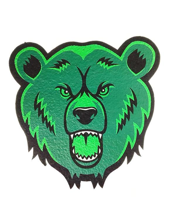 MOODMATS - Bong Pad & Dab Rig Coaster - Green Bear Glass