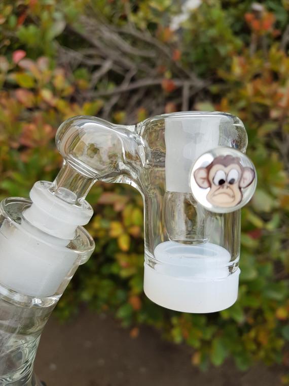 RICK BIRD BARRY - Oil Reclaim Catcher w/ Millie MIB & Silicone Jar - 14mm to 14mm Angled (Pick Millie Image)
