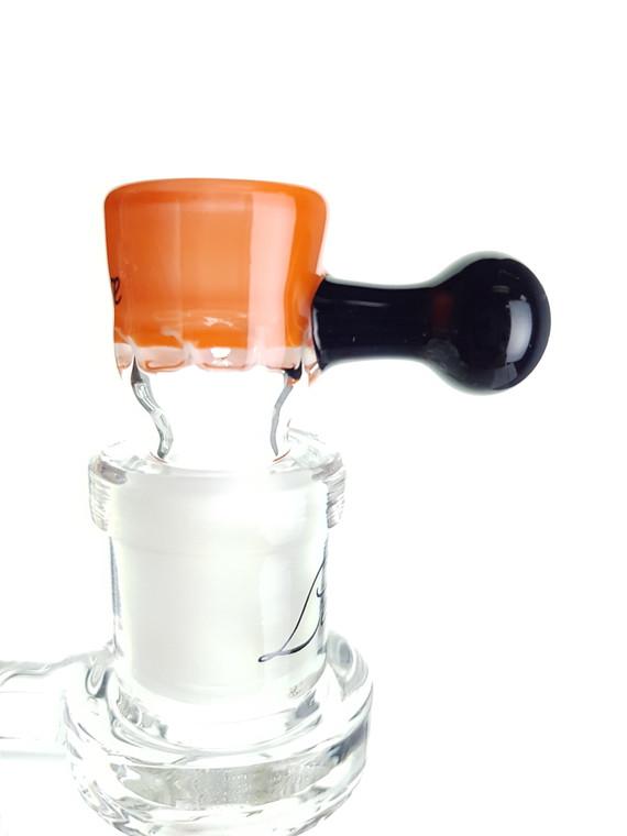 LEISURE - Multi-Hole Screen Bowl Slide w/ Handle - 14mm Male (Orange)