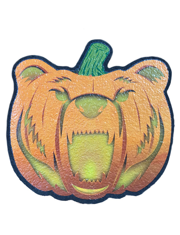 MOODMATS - Bong Pad & Dab Rig Coaster - Bear Quartz Spooky Edition