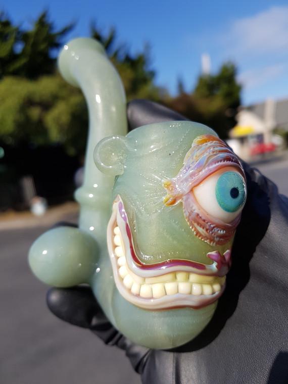 BARD - Cyclops Smile Face Sherlock Pipe  - Hulk (CFL)