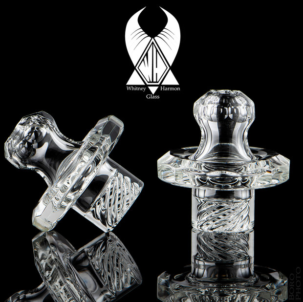 WHITNEY HARMON - Mr. Twister Faceted Glass Spinner Carb Cap - Clear