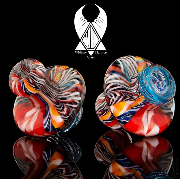 WHITNEY HARMON - Mr. Twister Glass Spinner Carb Cap - Inside Out Cane #3